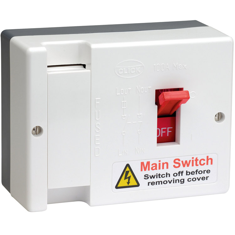 Fuse Distribution Box And Main Switch : Buy scolmore click a fused main switch max
