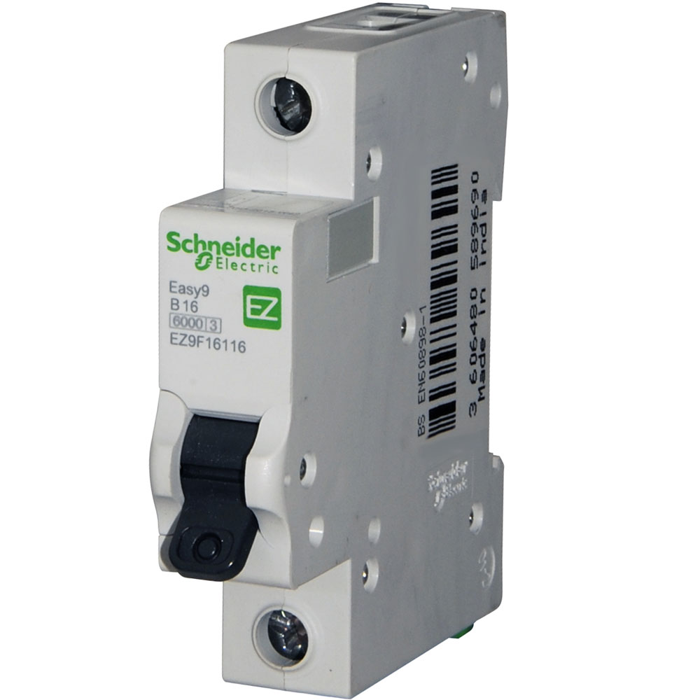 Schneider Easy 9 16 Amp Mcb Replaces The Domae Dom16b6