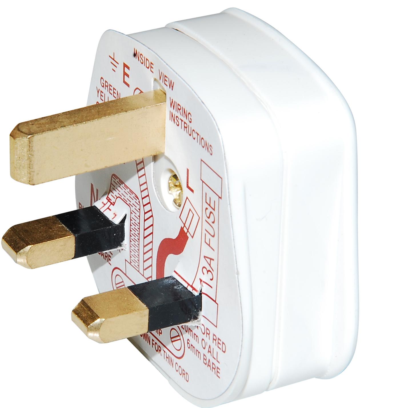 Click Polar 13 Amp Standard 3 Pin Household Plug White