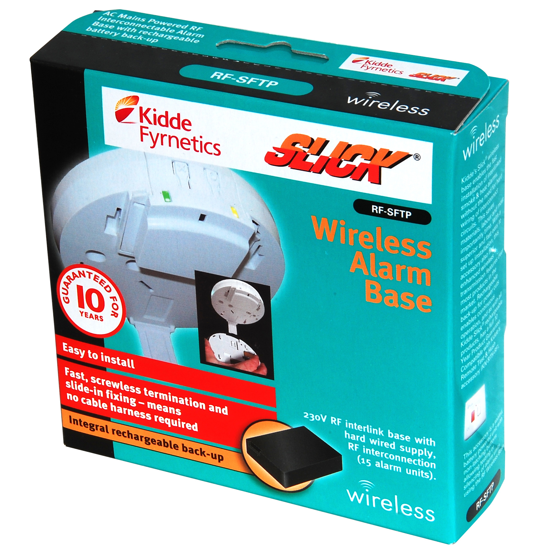 Kidde Slick Wireless Alarm Base For use with the Kidde Slick Smoke ...